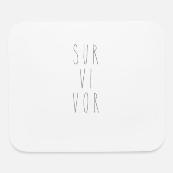 Cancer Survivor Mouse Pads - Survivor | Cancer Survivor - Mouse Pad white