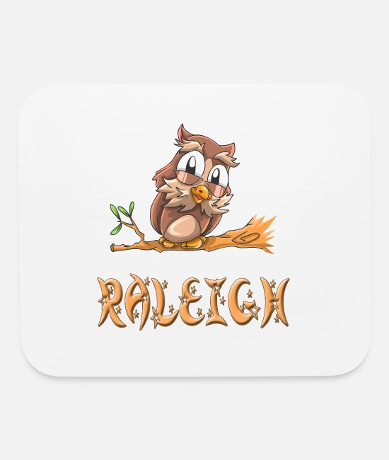 Raleigh Mouse Pads - Raleigh Owl - Mouse Pad white