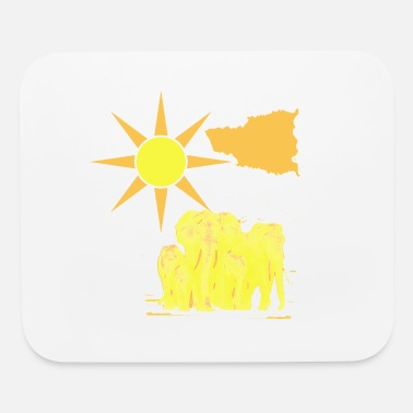 Herding Dog The herd of elephants - Mouse Pad