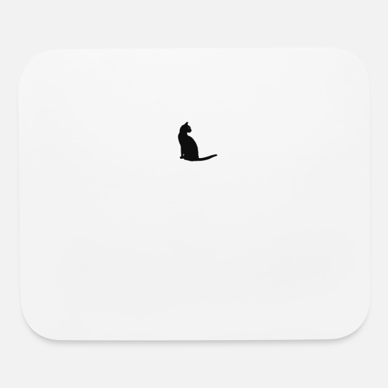 Gift Idea Mouse Pads - Mysterious cat - Mouse Pad white