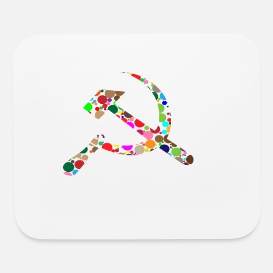 Hammer Mouse Pads - hammer and sickle - Mouse Pad white