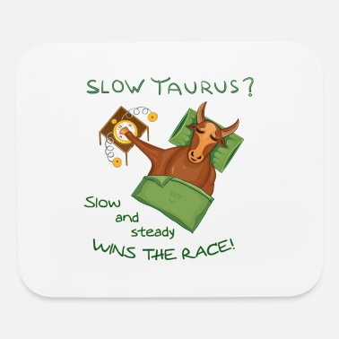 Handraft Zodiac Taurus Design for light background - Mouse Pad