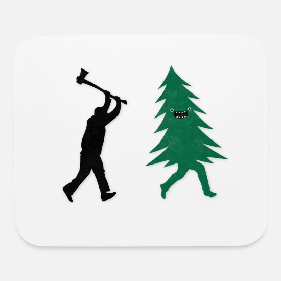 85a6839ce Funny Christmas Tree Hunted by lumberjack Humor Mouse Pad | Spreadshirt