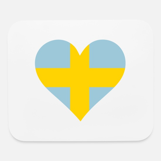 Stockholm Mouse Pads - A Heart For Sweden - Mouse Pad white