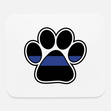 Print Blue line police paw print for K9 - Mouse Pad