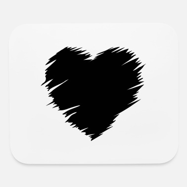 Love With Heart Heart - love heart - Mouse Pad