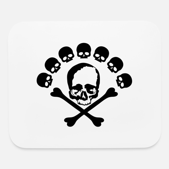 Skull Mouse Pads - skull and bones - Mouse Pad white