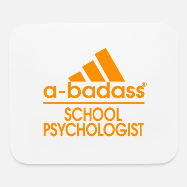 a badass school psychology Funny Gift - Mouse Pad