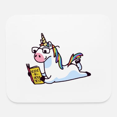 unicorn reading - Mouse Pad