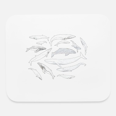 Whale Drawing Whales of the world - Mouse Pad