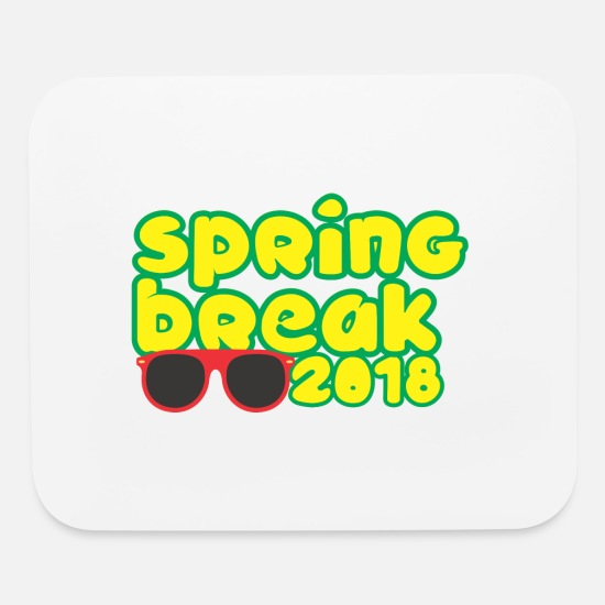 Body Builder Mouse Pads - Spring Break 2018 - Mouse Pad white