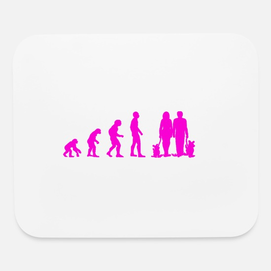 Dog Owner Mouse Pads - Evolution to a Dog owner - Mouse Pad white