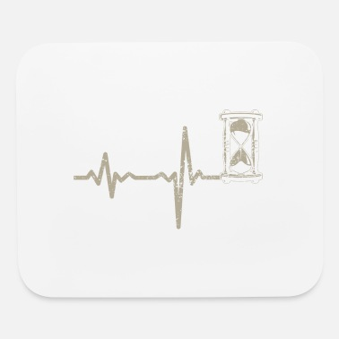 Masterjs gift heartbeat hourglass - Mouse Pad