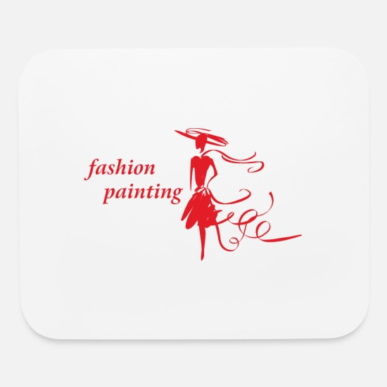 Birthday Mouse Pads - Fashion Painting - Mouse Pad white
