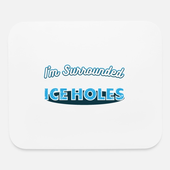 Fishing Mouse Pads - funny ice fishing shirt - Mouse Pad white