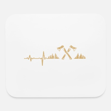 Forestry gift heartbeat forestry - Mouse Pad
