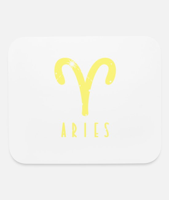 "Profession Mouse Pads - Star sign Aries ""Aries"" - Mouse Pad white"