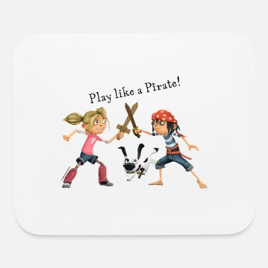 Pirates PIRATES NEXT DOOR Kid Pirates Playing with Dog - Mouse Pad