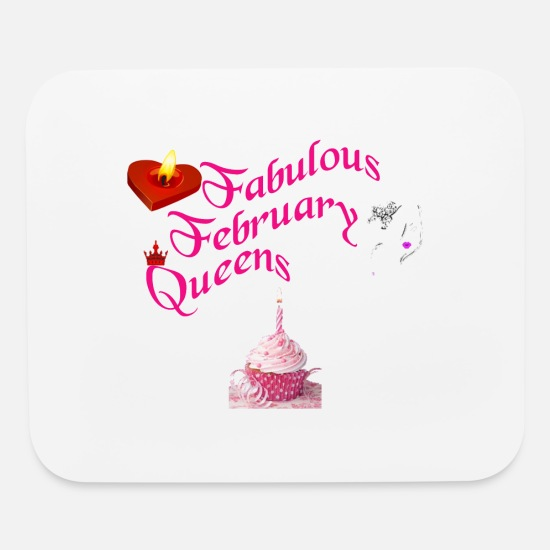 Birthday Mouse Pads - February born - Mouse Pad white