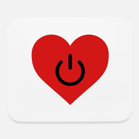 Funny Mouse Pads - power of love v2 - Mouse Pad white