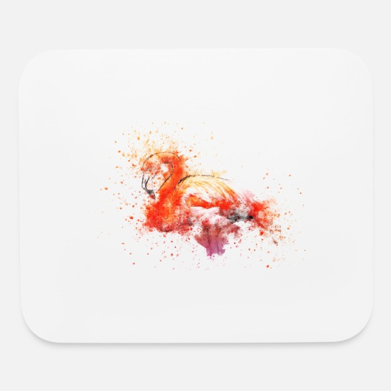 Gift Idea Mouse Pads - flamingo - Mouse Pad white