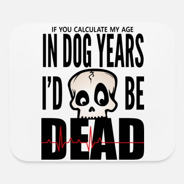 Family Drinkware In Dog Years - black print - Mouse Pad