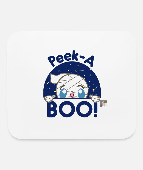 Mummy Mouse Pads - Mummy Peek-A-Boo! - Mouse Pad white