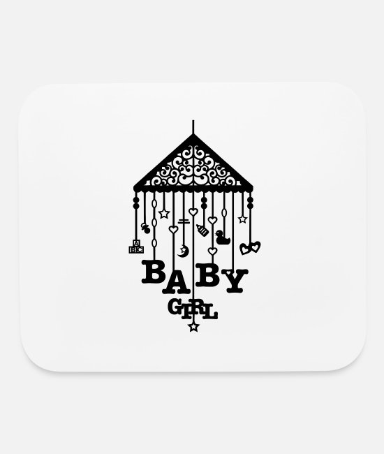 Babysitter Mouse Pads - Mobile Baby Girl Pregnancy Maternity Toy Gift Love - Mouse Pad white