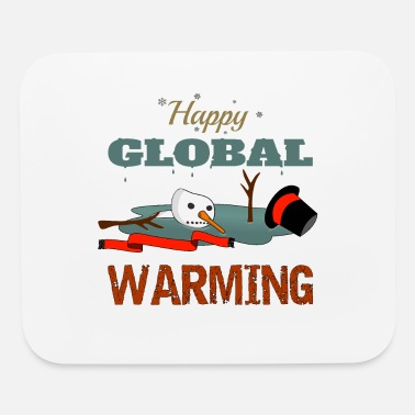 Global Warming christmas climate protection - Mouse Pad