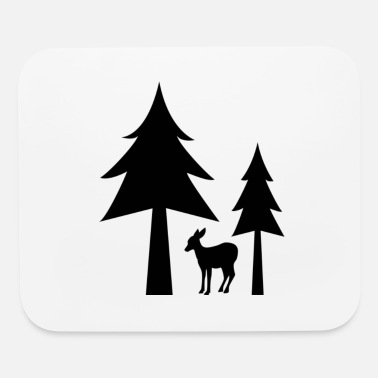 Silhouette silhouette illustration - Mouse Pad