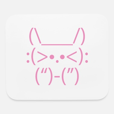 Computer ASCII Computer Cat Bunny Animal Drawing - Mouse Pad