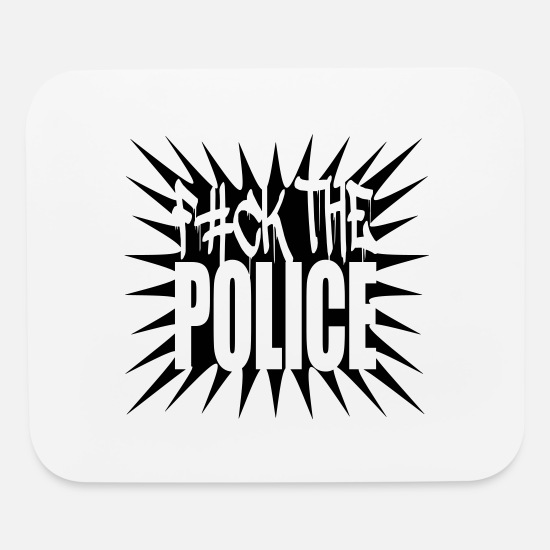 Fuck Mouse Pads - Fuck The Police Logo Design - Mouse Pad white