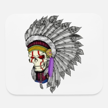 Indian Indian Skull - Mouse Pad