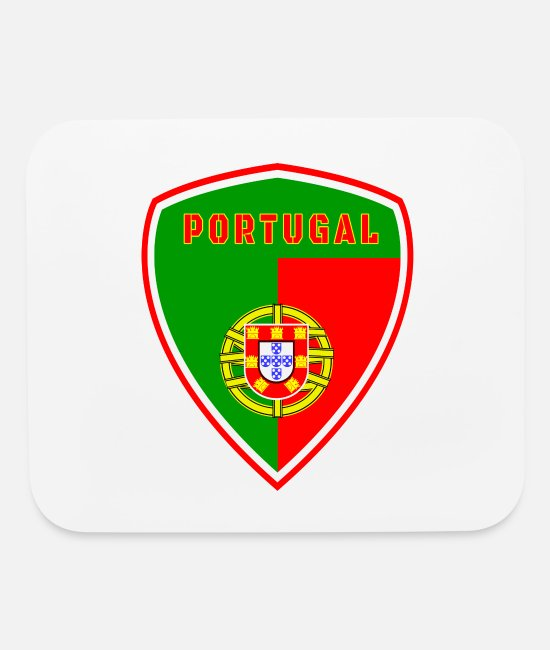 MADE IN Portugal Mouse Pads - Portugal Emblem / Porto Lissabon - Mouse Pad white