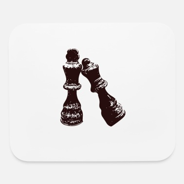 Chess chess figures king and queen - Mouse Pad