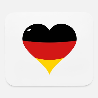German Flag Heart - Mouse Pad