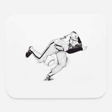 Batter PITCHER BASEBALL - Mouse Pad