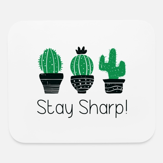 Office Mouse Pads - Stay Sharp - Mouse Pad white