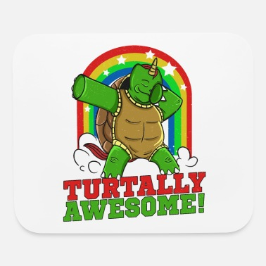 Dabbing Turtle TURTALLY AWESOME Funny Sea Turtle - Mouse Pad