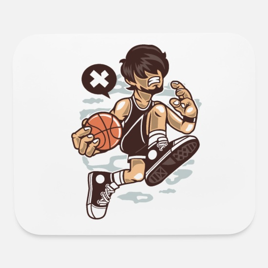 Player Mouse Pads - Basketball Player - Mouse Pad white