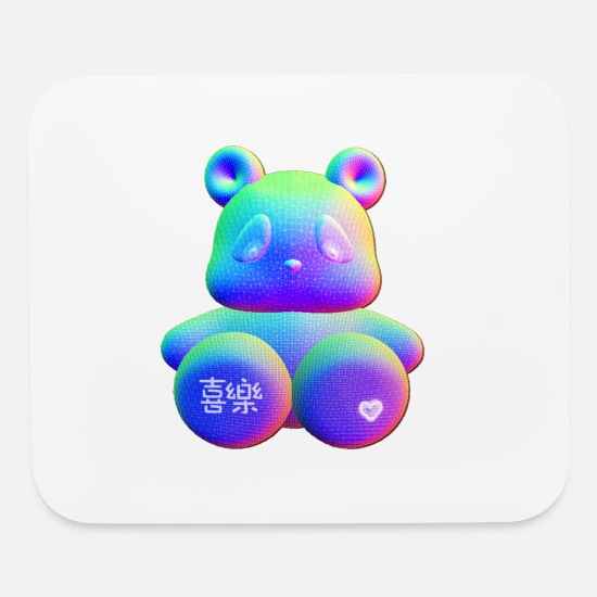 Chinese Characters Mouse Pads - Be My Bear - Joyful - Mouse Pad white