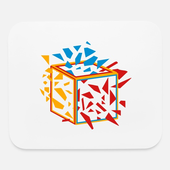 Cube Mouse Pads - exploding cube - Mouse Pad white