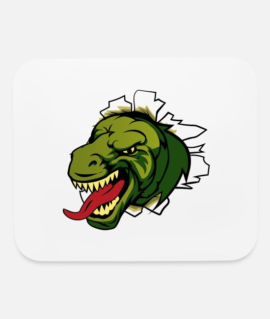 Drawing Mouse Pads - Abstract Tyrannosaurus Rex T-Rex Design - Mouse Pad white