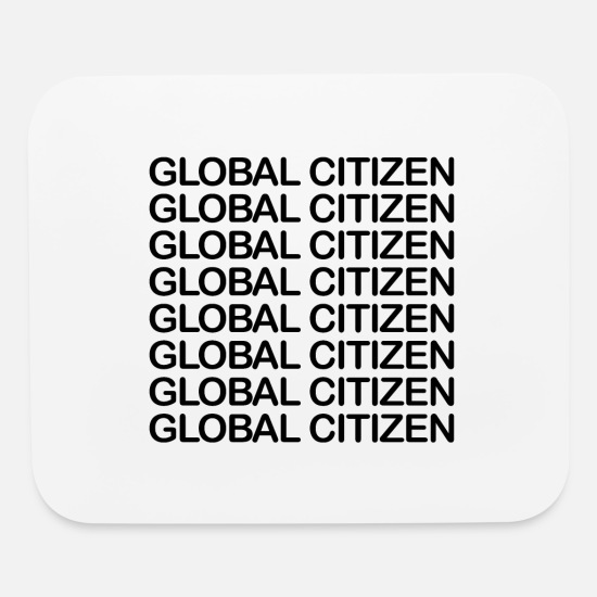 Education Mouse Pads - Global Citizen - black - Mouse Pad white