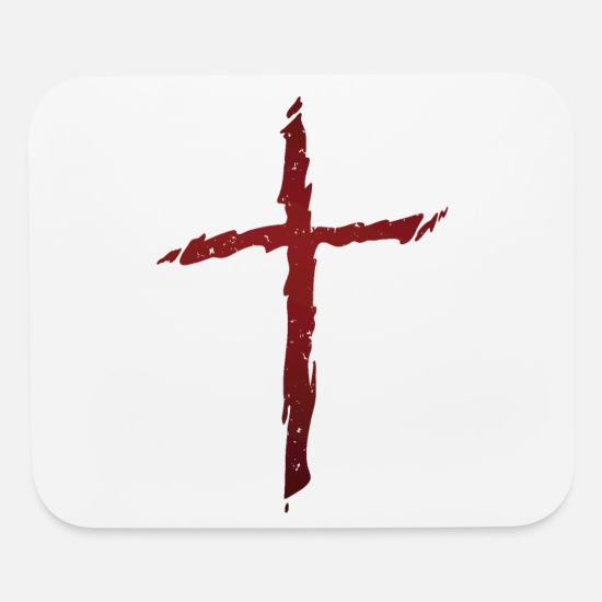 Cross Mouse Pads - Old rugged distressed christian cross - Mouse Pad white
