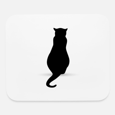 Silhouette Cat silhouette silhouettes - Mouse Pad