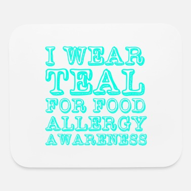 Allergy Allergies Theme Gift - Wear Teal For Food Allergy - Mouse Pad