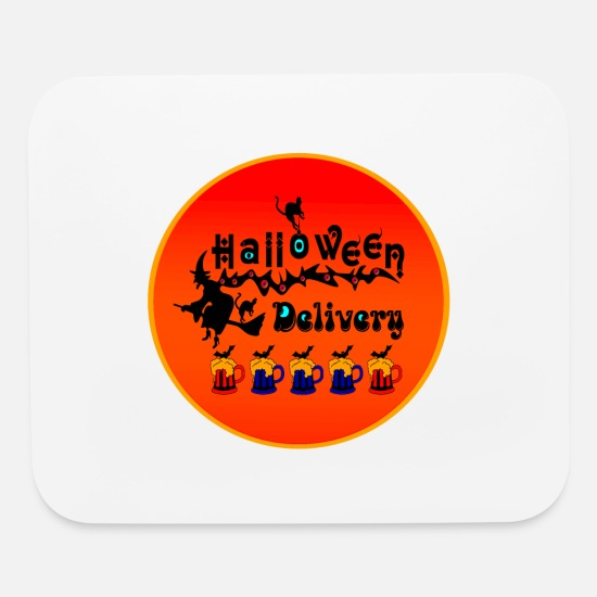 Quotes Mouse Pads - ✦°•Halloween Delivery-Drink Up Bat Beers - Mouse Pad white