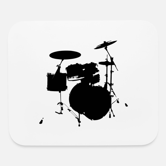 Bass Mouse Pads - drums - Mouse Pad white