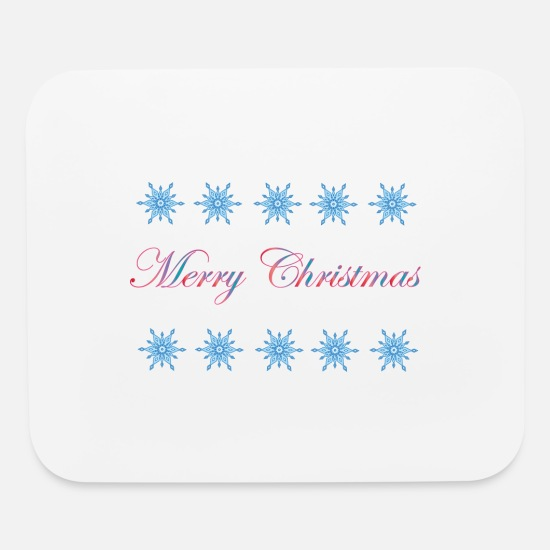 Christmas Carols Mouse Pads - Merry Christmas - Mouse Pad white